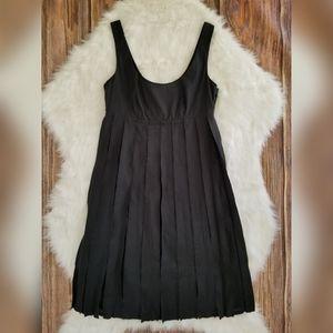 Club Monaco Womens Black Sleeveless Plated Dress